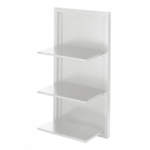 Koehler 10017989 29.5 inch 3 Tier White Folding Wall Shelf