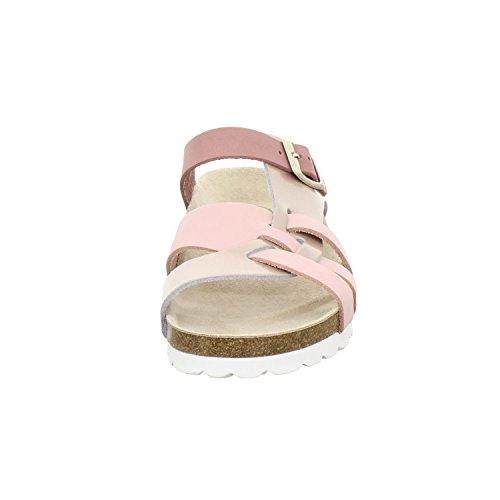 AFS-Schuhe 212220 - Zuecos de Piel para mujer Rose