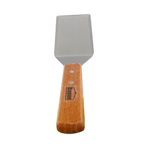 (Dianoo Square Stainless Steel Spatula Pancake Turner with Cutting Edge Wooden Handle)