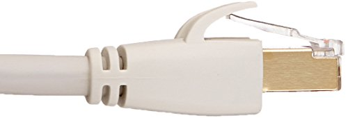 AmazonBasics RJ45 Cat7 Network Ethernet Patch Cable 4 Cat-7 Ethernet patch cable for wired home and office networks Connects computers to network components in a wired LAN RJ45 connectors ensure universal connectivity; data speed up to 10 Gigabits per second