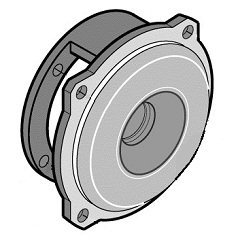 Pentair L05329 Bracket Replacement Sta-Rite 3-Phase 7-1/2 HP CSPH Series Pool and Spa Commercial Pump