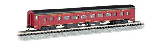 Bachmann Industries Smooth Side Coach Norfolk & Western N-Scale Passenger Car, 85