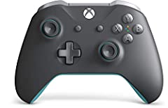 Experience the enhanced comfort and feel of the Xbox Wireless Controller, featuring a dark grey design with light grey and blue accents, and textured grip. Enjoy custom button mapping on Xbox One and Windows 10 and plug in any compatible head...