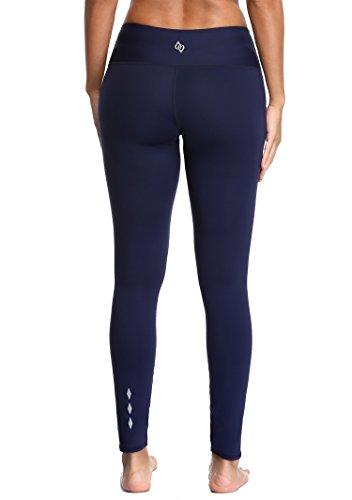 ATTRACO Womens Yoga Leggings Pocket Activewear Pants Navy Large
