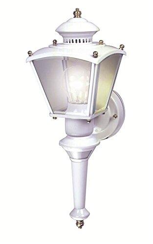 Charleston Outdoor Wall (Heath Zenith SL-4150-WH 150-Degree Motion-Activated Charleston Coach Decorative Lantern,)