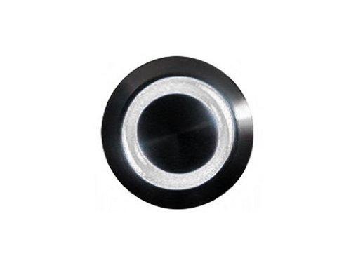 mod/smart White Illuminated Bulgin Style Momentary Vandal Switch - 22mm -Black Housing - Ring Illumination