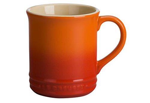 Le Creuset of America Stoneware Set of 2 Mugs, 12-Ounce, Flame