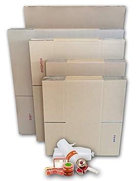 Cajas Cartón para Mudanzas (Pack EXTRA GRANDE de 40 Cajas + Accesorios) - Cajas