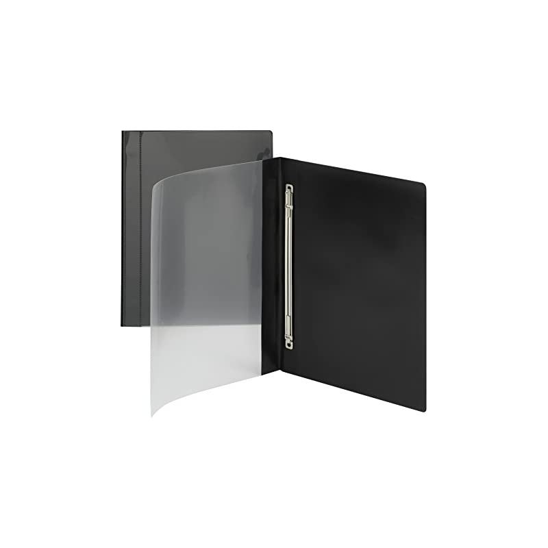 Smead Clear Front Poly Report Cover, Metal Prong Side