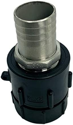 yotijar IBCタンクアダプター2インチ細目ねじ-ガーデンホース蛇口バルブ交換部品 - 40.5mm