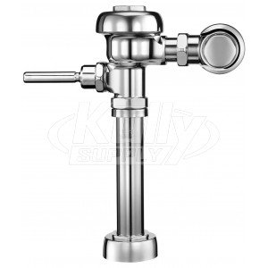 SLOAN VALVE COMPANY 3780018 275023 1.28 gpf Model 111-1.28 High Efficiency Exposed Water Closet Flushometer for Floor Mount Or Wall Hung Top Spud Bowls