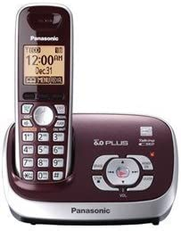 Panasonic kx-tg6571r sistema de teléfono inalámbrico con contestador automático, DECT 6.0, 1 terminal rojo vino (Certificado Reformado): Amazon.es: Electrónica