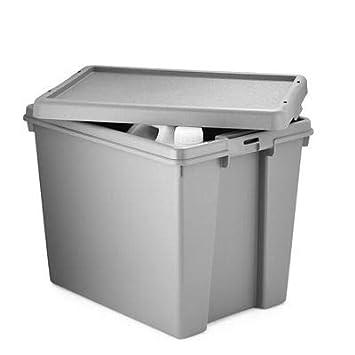Wham Bam Upcycled - Caja de almacenamiento con tapa (24 L): Amazon.es: Hogar
