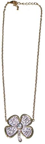 nOir Clover Pave Necklace (Gold) -