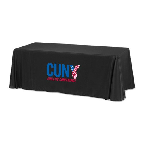 CUNYAC Black 8 foot Table Throw 'Official Logo' by CollegeFanGear