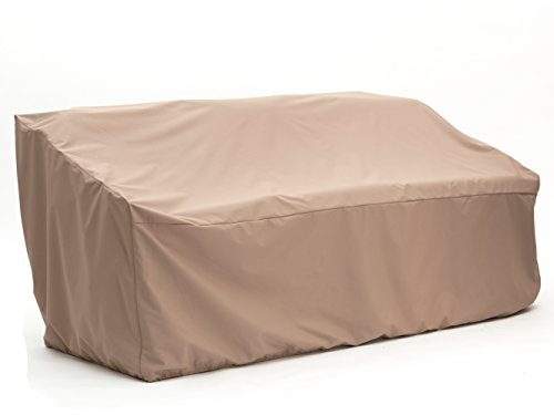 CoverMates – Outdoor Patio Sofa Cover – 82W x 40D x 40H – Ultima Collection – 7 YR Warranty – Year Around Protection- Tan by CoverMates