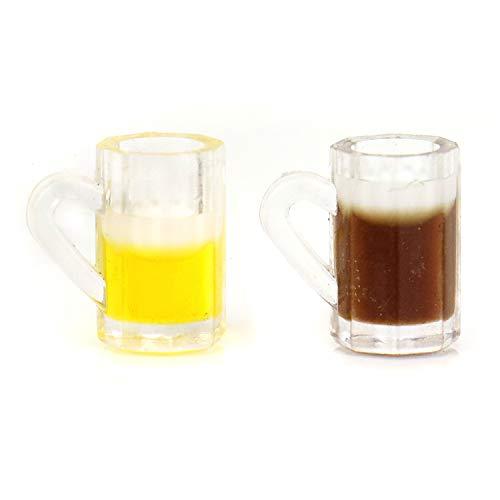 JETEHO 1:12 Miniature 20PCS Multi Color Plastic Dollhouse Miniature Mug of Beer Water Cups Dollhouse Kitchen Accessories]()