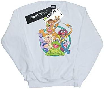 Disney Herren The Muppets Group Circle Sweatshirt Weiß Large