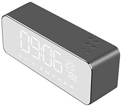 NILINMA Speaker S1 Speaker Heavy Bass Speakers Music Player Support LED Time Display Clock Alarm TF Speaker