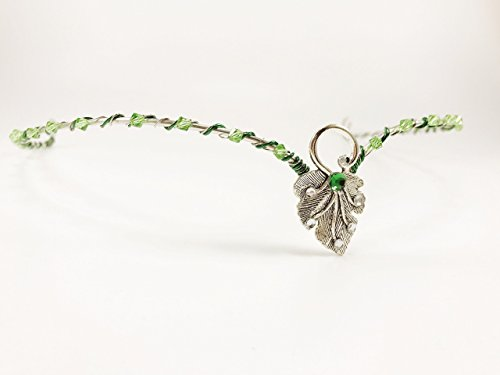 Silver CIRCLET Renaissance Wedding Circlet Tiara with Leaf Focal, Queen Crown, Princess Crown, Woodland Fairy Queen (Cosplay Shop)