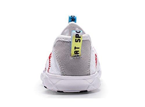 Shoes Walking On Lightweight Sneakers Aqua Water Mesh Women's Quick Drying Slip XMeden White 8U14F1