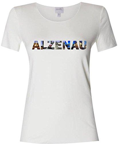 Pema T-Shirt mit farbigem Brustaufdruck Damen mit Städtenamen Alzenau Gr. S