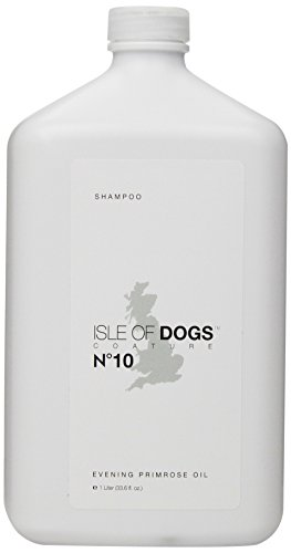 Isle of Dogs Coature No. 10 Evening Primrose Oil Dog Shampoo for Dry and Sensitive Skin, 1-Liter ()