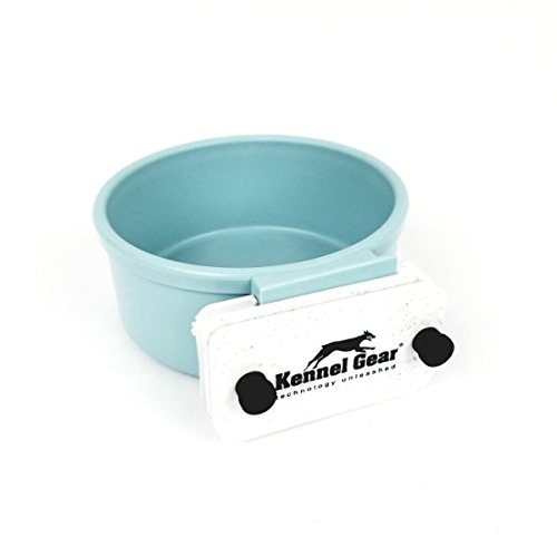 Kennel-Gear 20 oz Plastic Dog or Cat Bowl Kit, Slate Blue (Plastic Bowl Water)