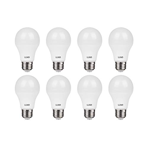 LUNO A19 Non-Dimmable LED Bulb, 6.0W (40W Equivalent), 450 Lumens, 4000K (Neutral White), Medium Base (E26), UL…