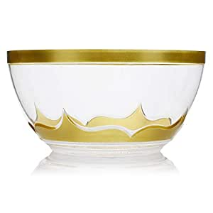 Al Hoora Large Salad Bowl With Gold Cover