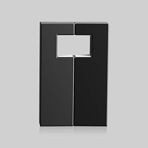 U字型磁気携帯電話ブラケットU1回転携帯電話ブラケットABSブラケット車怠desktopなデスクトップブラケット (Color : Black)