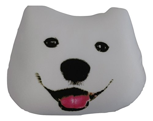 Tache Cute Dog Micro Bead Realistic Throw Pillow, Samoyed