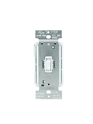 (Legrand - Pass & Seymour T603WV 3 Way Dimmer Light Switch, Incandescent Toggle Dimmer 600-watt 3 Way Light Switch, Easy Install, White)