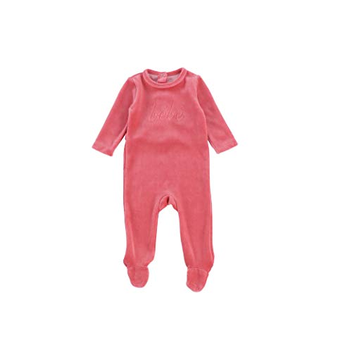 Bee and Dee Baby Boy Stretchie Bodysuit Footie Girls Long Sleeve Newborn Footed Sleeper Unisex Rose (9 Months)