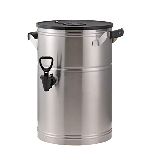 Service Ideas ITS3GPL Round Tea Urn, 3 Gallon (384 oz.), Brushed Stainless - 3 Gallon Urn
