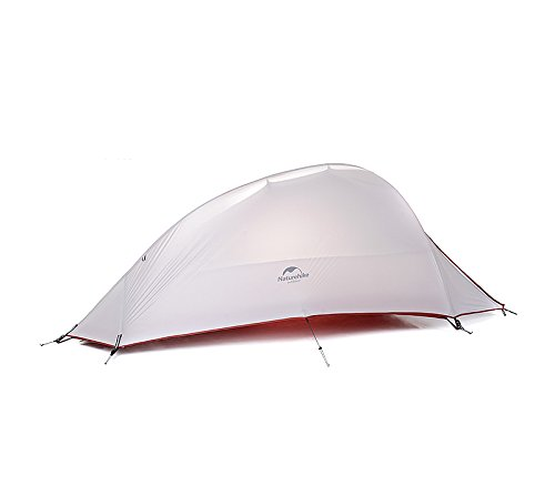 1 Person 4 Season Tent Double Skin 20D Silicone Fabric Super Lightweight Camping Tent (gray) Naturehike