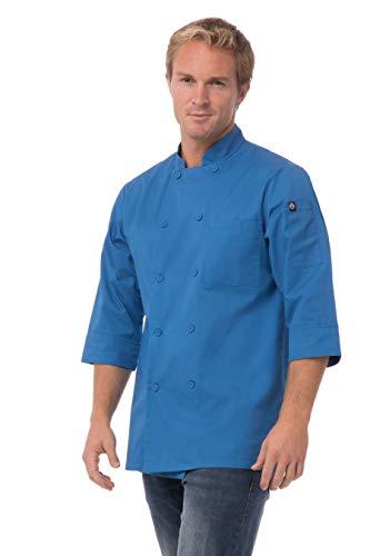 blue chef coat - 1