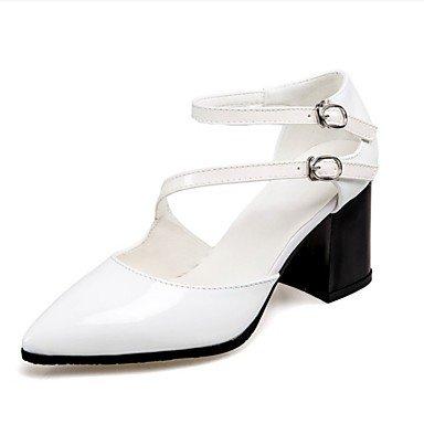 LvYuan las sandalias de las mujeres del verano del resorte otro vestido ocasional de la PU White