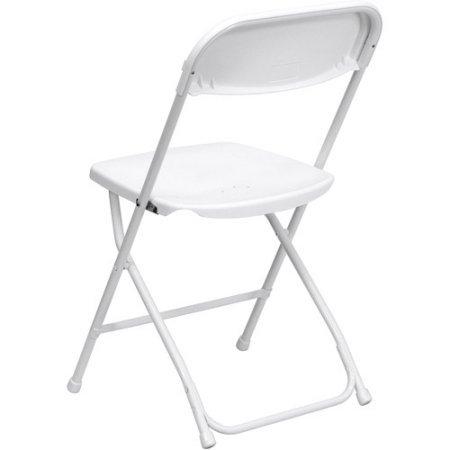 HERCULES Series Premium Plastic Folding Chair, White, Set of 4