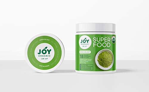Joy Organic Green Delight Superfood Powder with 16 Superfoods Including Spirulina and Matcha Green Tea to Support Immunity, Metabolism, Digestion and Energy Vegan and Non GMO Formula 30 Servings