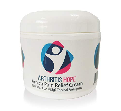 ArthritisHope Pain Relief Cream - Made with Arnica and 8 natural & powerful ingredients for joints, muscles, nerves, Knee pain, Hand Tendonitis, Arthritis, Osteoarthritis & Rheumatoid arthritis