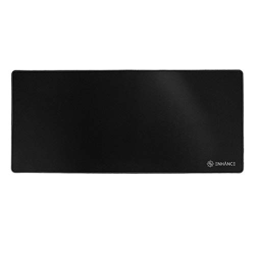 ENHANCE Pathogen XXXL Large Gaming Mouse Pad (31.5 x 13.75 in) - Extended Mousepad with Anti-Fray Stitching, Low Friction Smooth Surface, Non-Slip Backing - Full Desk Mouse Mat (Black)