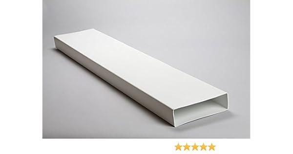 naplesuk 204 mm x 60 mm rectangular plano canal conducto 1,5 Metre longitud – plástico blanco: Amazon.es: Bricolaje y herramientas