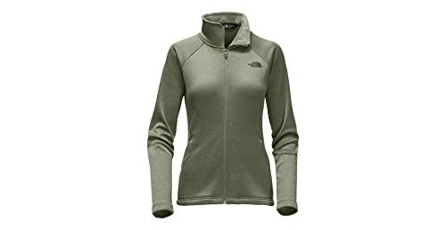 The North Face Womens Agave Full Zip Jacket (Four Leaf Clover Heather) - Zip Leaf