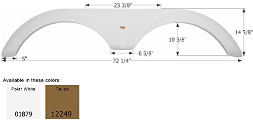 ICON Jayco Tandem Fender Skirt FS1879, Polar White by ICON