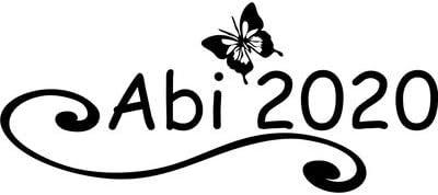 2020 Abiaufkleber Schmetterling Motiv 1 Abitur Aufkleber Sticker