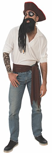 Rubie's Men's Deluxe Adult Accessory Kit, Pirate, One Size ()