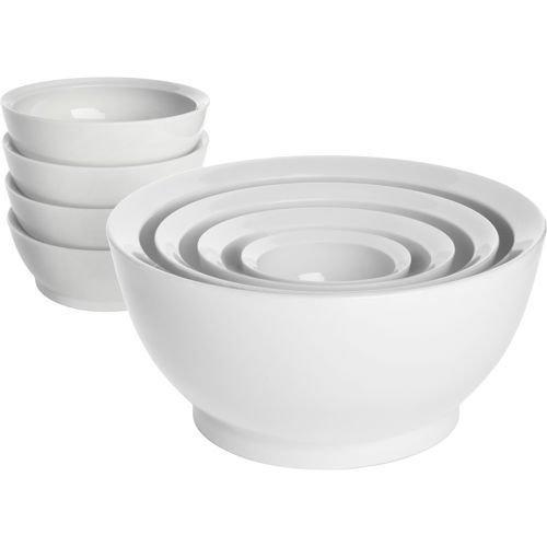 Calibowl Non-spill 8-piece Bowl Set - White