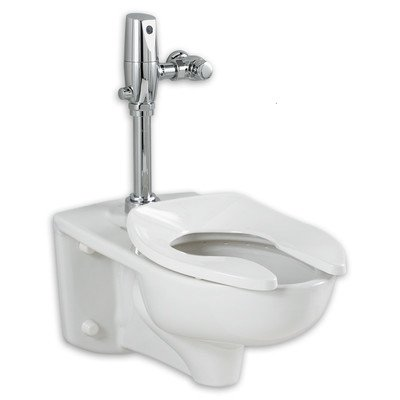 American Standard 3351.528.020 Afwall Universal Floor Mount Toilet Bowl with Everclean and 1.28 Gpf Selectronic Flush Valve