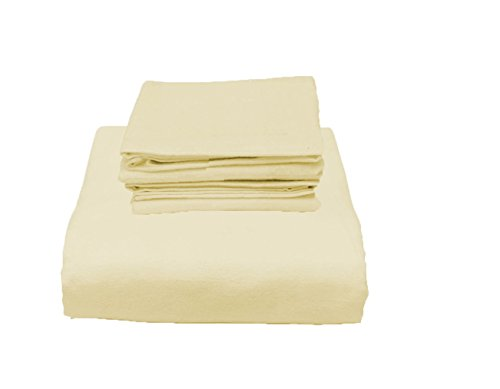 Jersey Knit Fitted Bed Sheet and 2 Pillowcase Set Twin XL 39